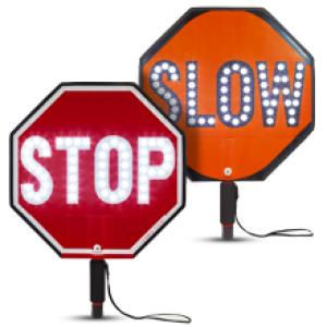 LED Stop Slow Paddles