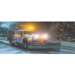 Warning Lights on Construction Snow Plow Vehicle