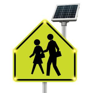 Solar LED School Crossing Sign