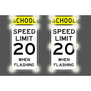 Solar LED School Speed Limit Sign