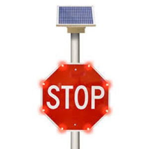 Solar LED Stop Sign